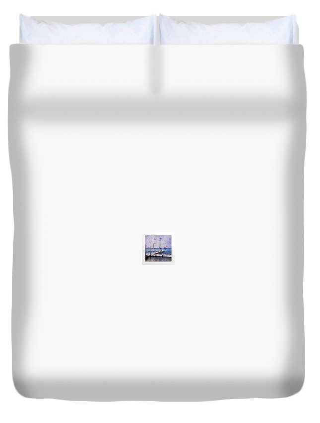 Korda Duvet Cover featuring the sculpture Between Two Worlds by Rusty Scruby