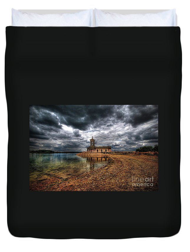 Church Duvet Cover featuring the photograph Beyond The Bend by Yhun Suarez