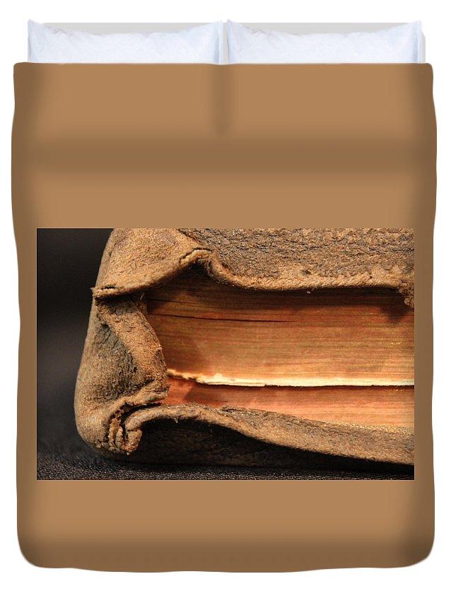Bible Duvet Cover featuring the photograph Bibeln by Lauri Novak