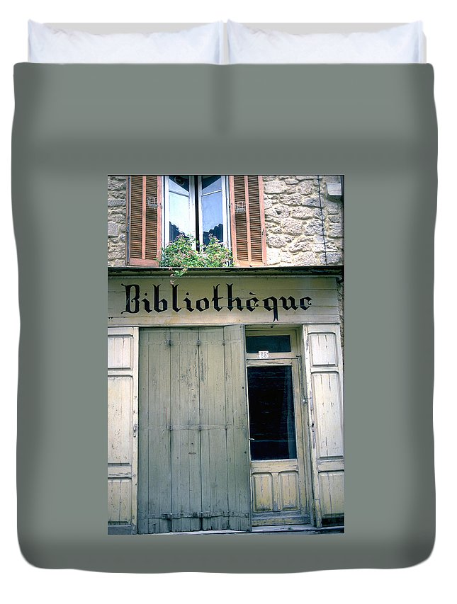Bibliotheque Duvet Cover featuring the photograph Bibliotheque by Flavia Westerwelle