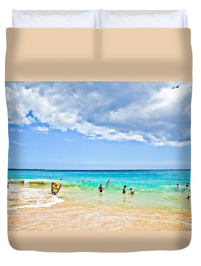 Landscape Duvet Cover featuring the photograph Big Beach by MaxD Photography
