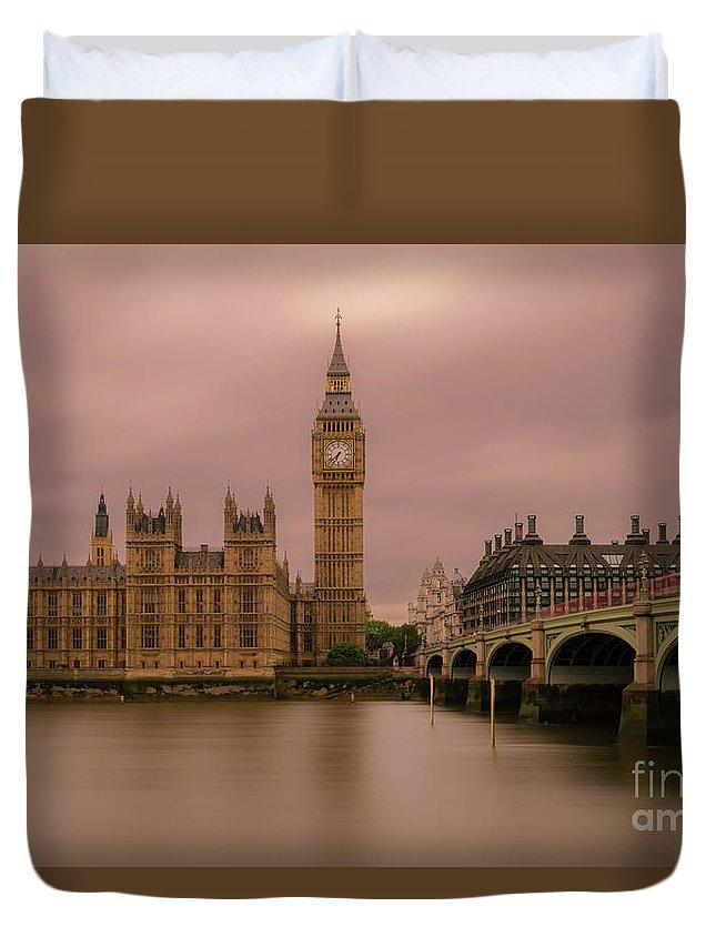Big Ben Duvet Cover featuring the photograph Big Ben And Westminster Bridge, London by Sinisa CIGLENECKI