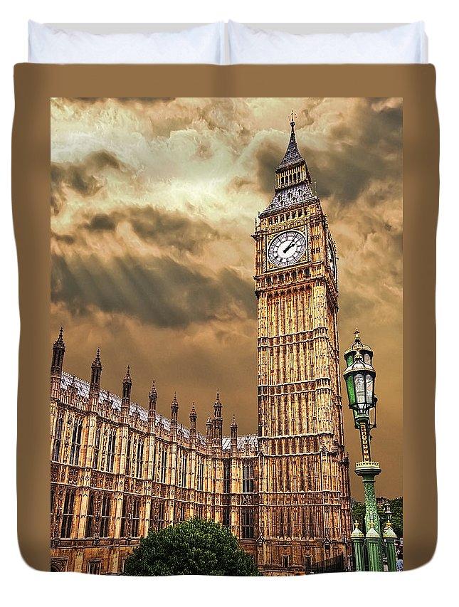 Big Ben Duvet Cover featuring the photograph Big Ben's House by Meirion Matthias