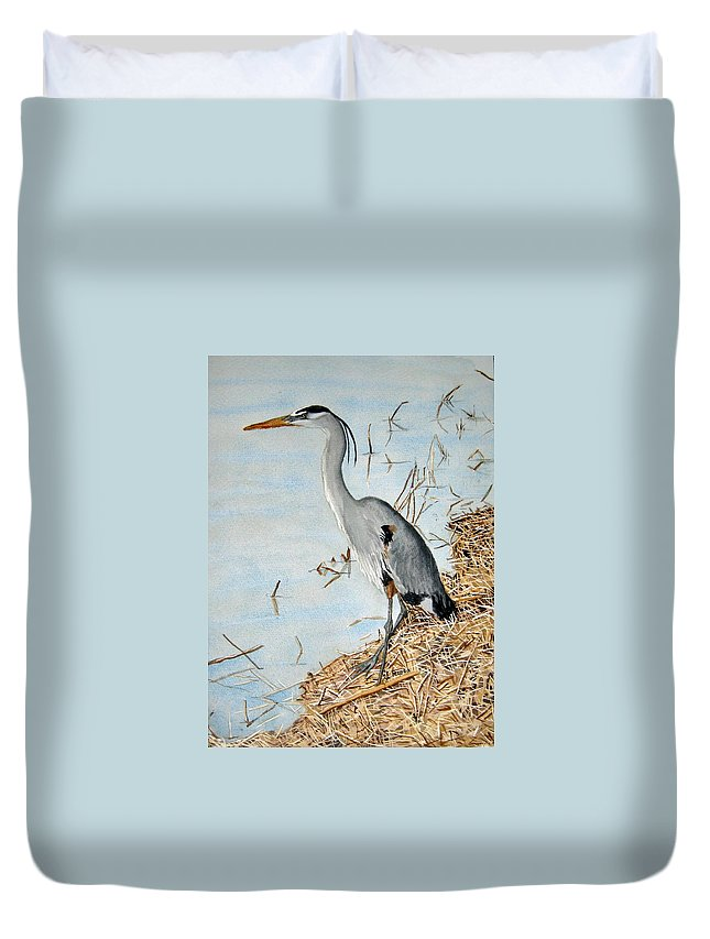 Water Duvet Cover featuring the painting Big Blue by Julia RIETZ