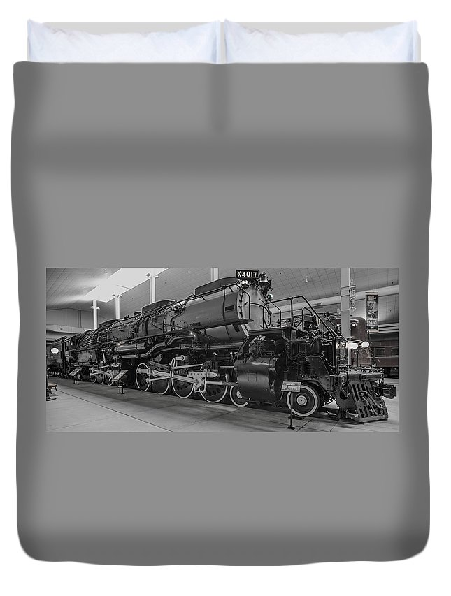 Rail Road Duvet Cover featuring the digital art Big Boy 4017 by Jason Davies