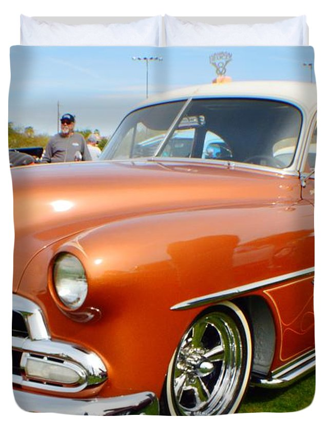 Hot Rod Duvet Cover featuring the photograph Big Boy by Barbara Angle