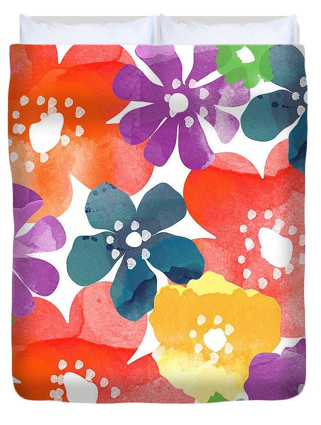 Bright Color Flower Duvet Covers