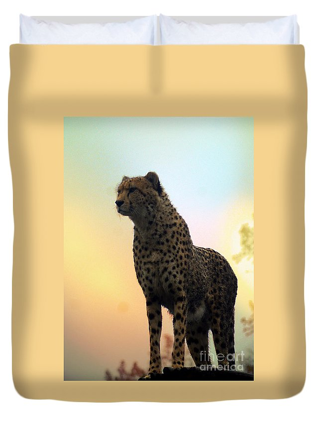Chaeta Duvet Cover featuring the photograph Big Cats 104 by Ben Yassa
