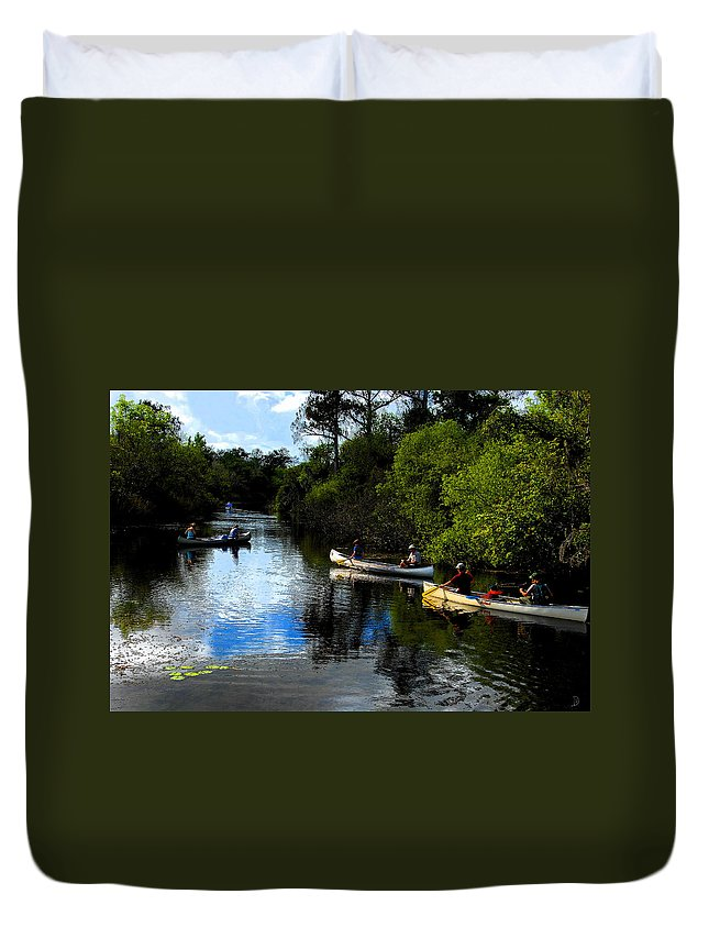 Big Cypress National Preserve Florida Duvet Cover featuring the painting Big Cypress Outing by David Lee Thompson