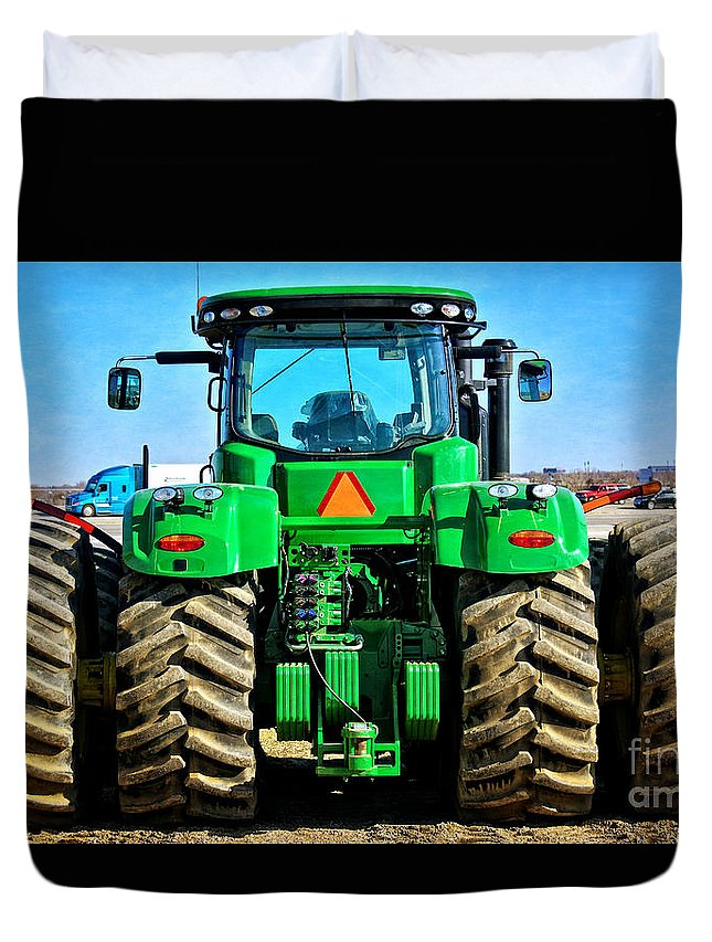 South Dakota Duvet Cover featuring the photograph Big Deere by M Dale