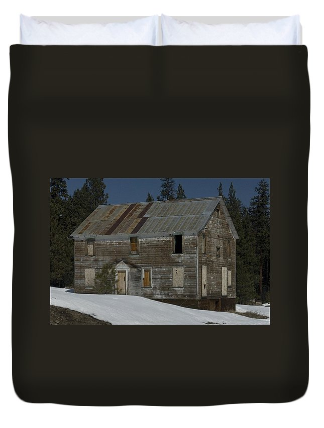 Old Duvet Cover featuring the photograph Big Old House by Sara Stevenson