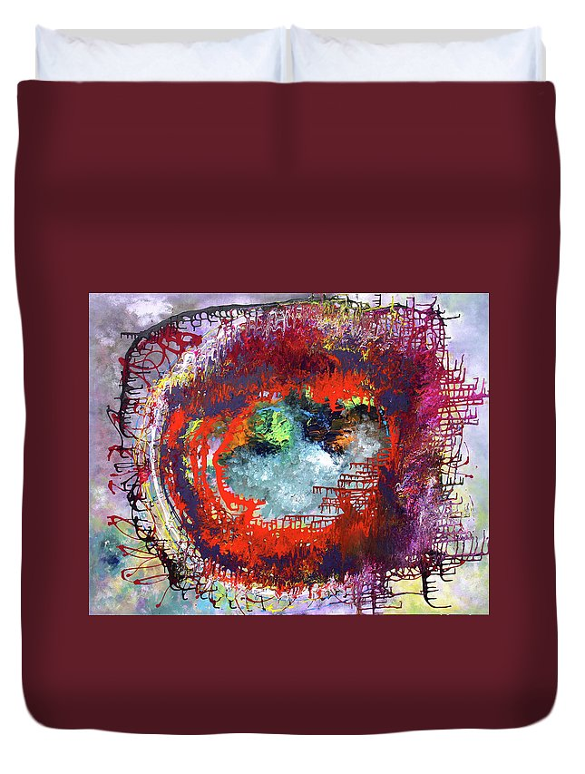 Fusionart Duvet Cover featuring the painting Big Optic by Ralph White