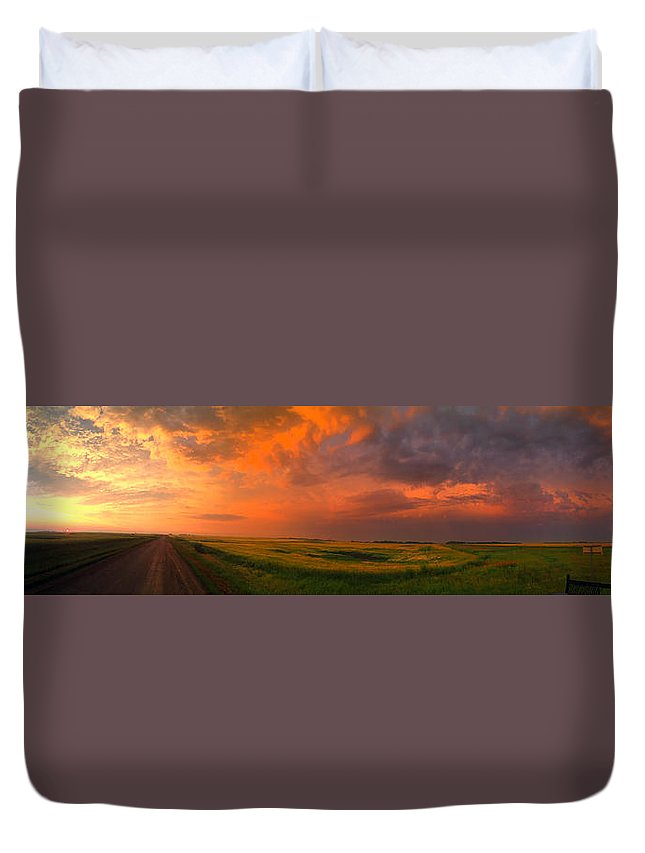 Big Sky Duvet Cover featuring the photograph Big Sky by Karl Van Order