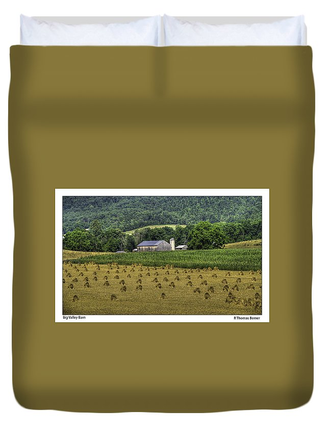 Barns Duvet Cover featuring the photograph Big Valley Farm by R Thomas Berner