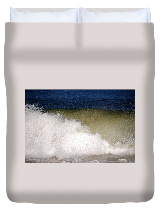 Waves Duvet Cover featuring the photograph Big Waves by Susanne Van Hulst