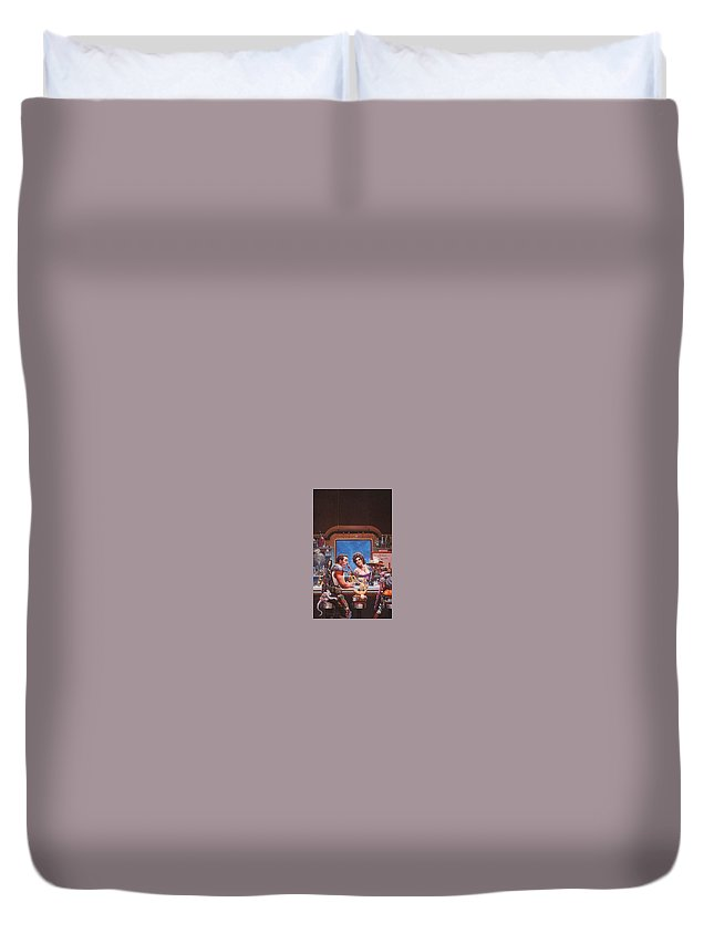 Throne Duvet Cover featuring the digital art Bill The Galactic Hero Keith Parkinson by Eloisa Mannion