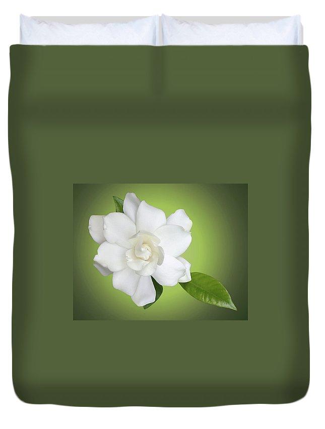 Gardenia Duvet Cover featuring the photograph Billie's Flower by Kristin Elmquist