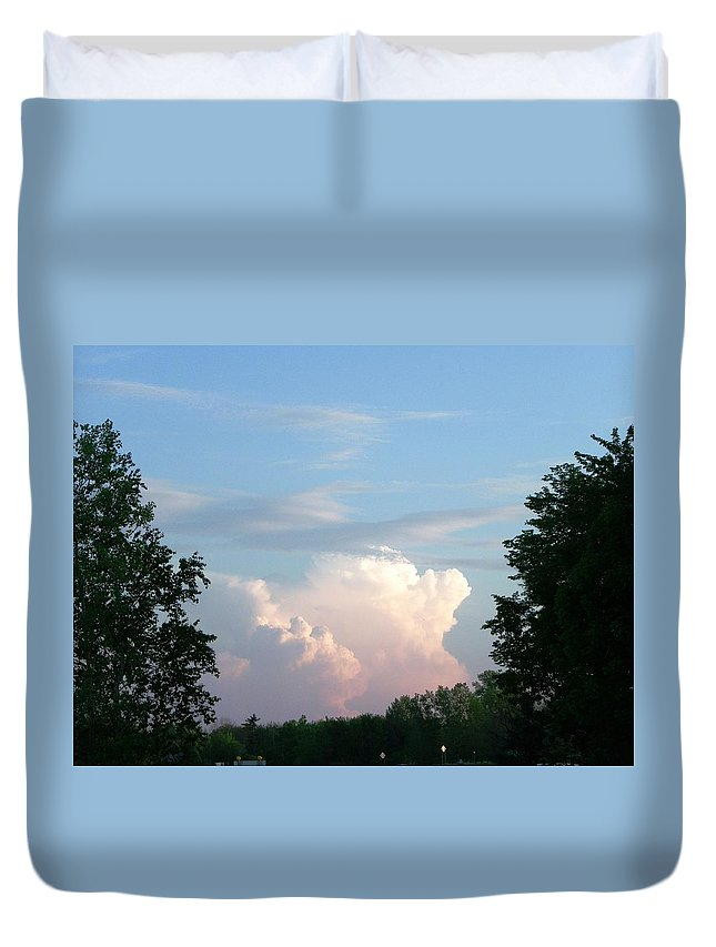 Sky Duvet Cover featuring the photograph Billows by Peggy King