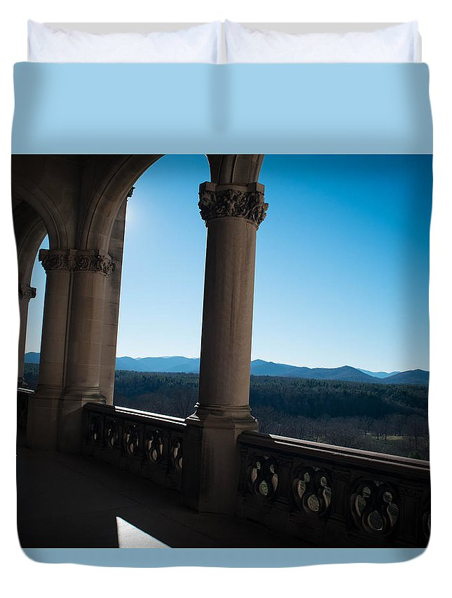 Asheville Duvet Cover featuring the photograph Biltmore Backyard by Brittany Jordan