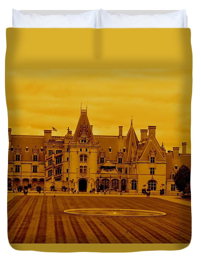 Biltmore Estate House Old Places Duvet Cover featuring the photograph Biltmore Estate by Frank Conrad