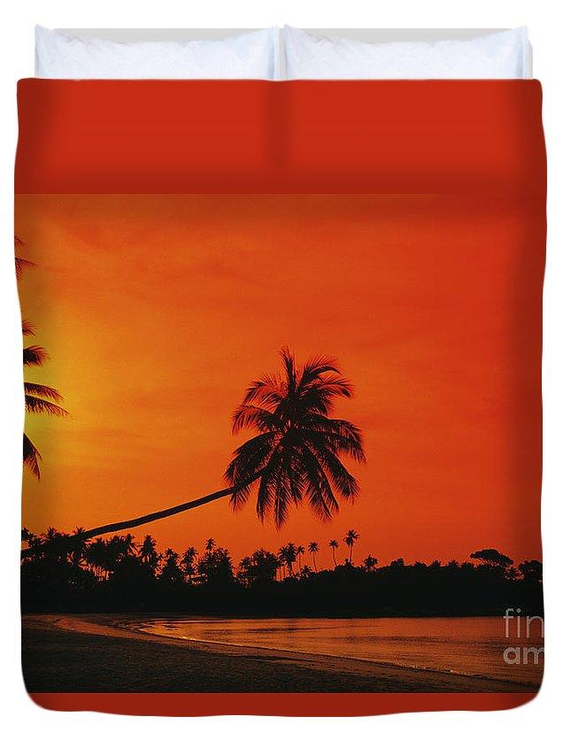 Beach Duvet Cover featuring the photograph Bintan Island Beach by Gloria & Richard Maschmeyer - Printscapes