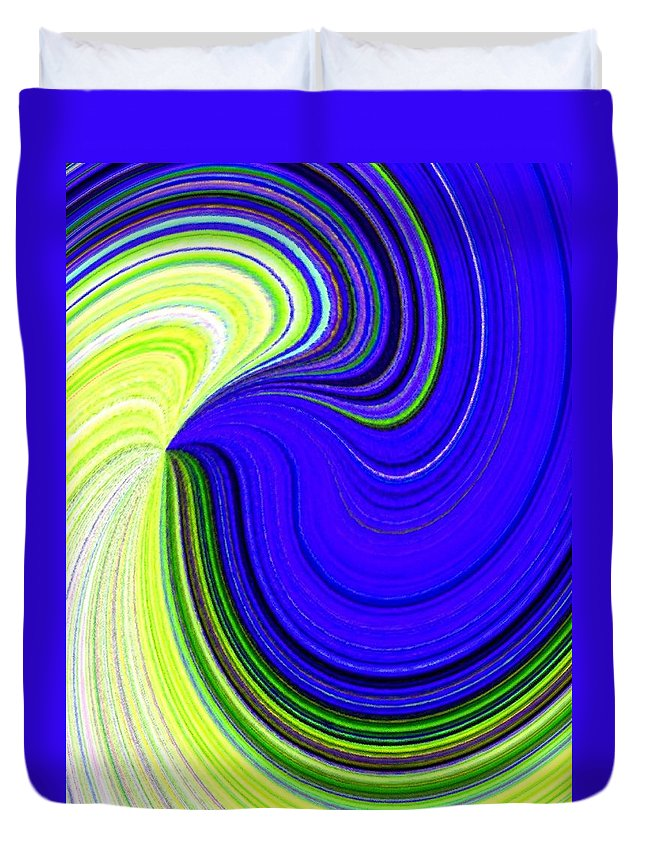 Abstract Duvet Cover featuring the digital art Bionetwork Flow by Will Borden