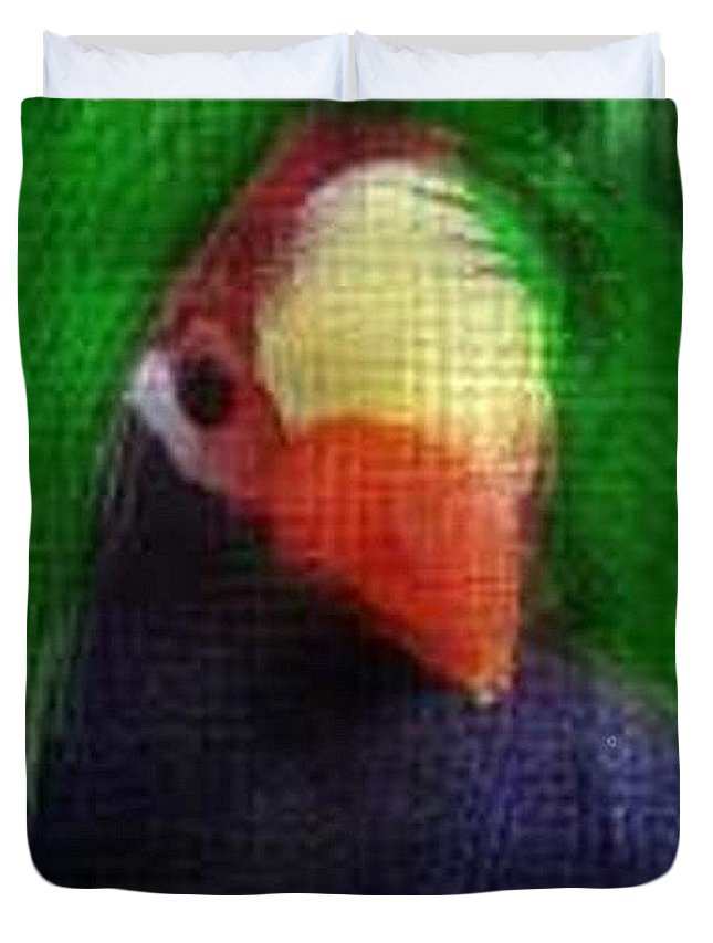 Birds Duvet Cover featuring the photograph Bird 1 by Crystal Webb