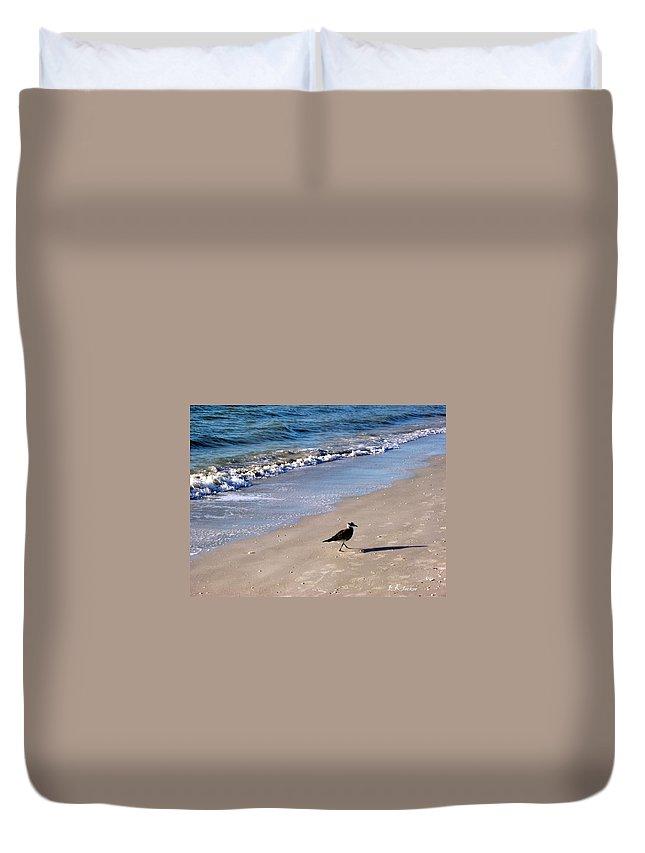 Beach Duvet Cover featuring the photograph Bird 2009 by Elizabeth Klecker
