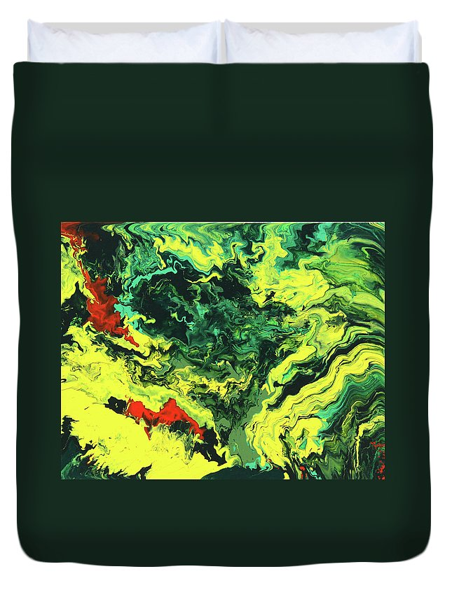 Fusionart Duvet Cover featuring the painting Bird Of Paradise by Ralph White