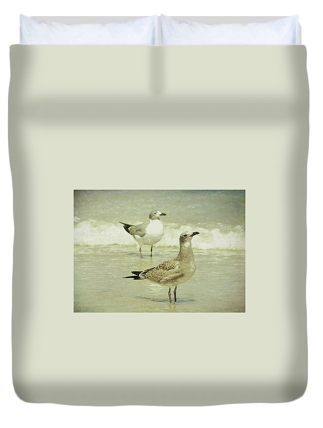Seagull Duvet Cover featuring the photograph Birds Eye View by JAMART Photography