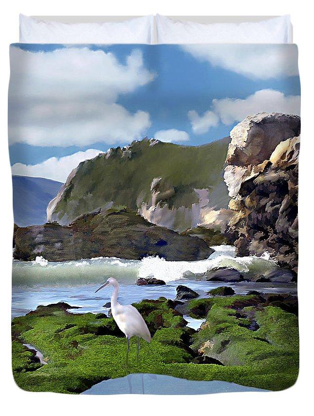 Ocean Duvet Cover featuring the photograph Bird's Eye View by Kurt Van Wagner