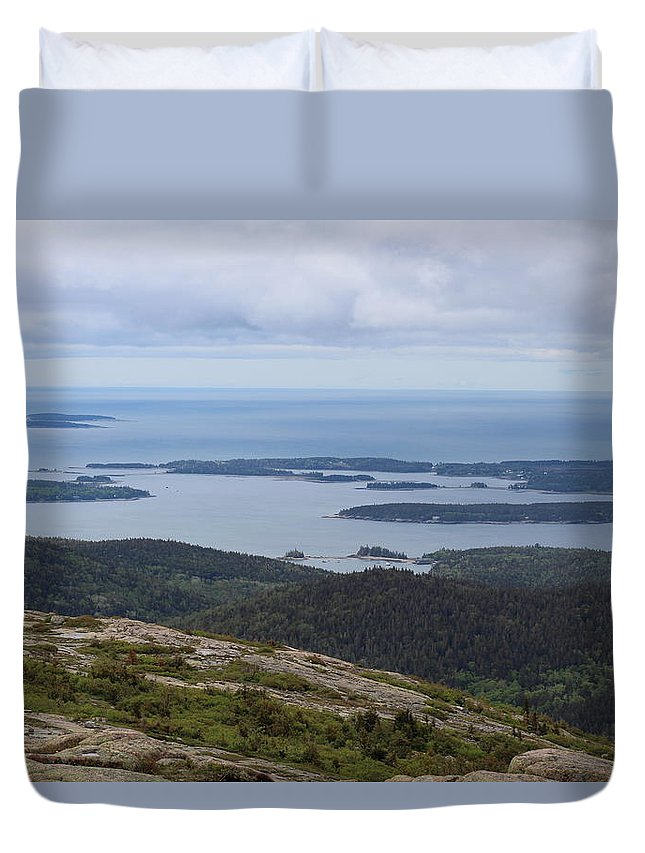 Landscape Duvet Cover featuring the photograph Birds Eye View by Lisa Wolstencroft