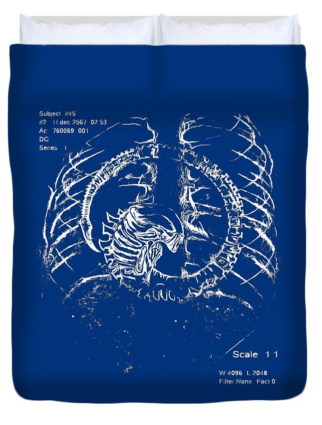 Et Duvet Cover featuring the digital art Birth Of Alien by Dazzle Fillinheart