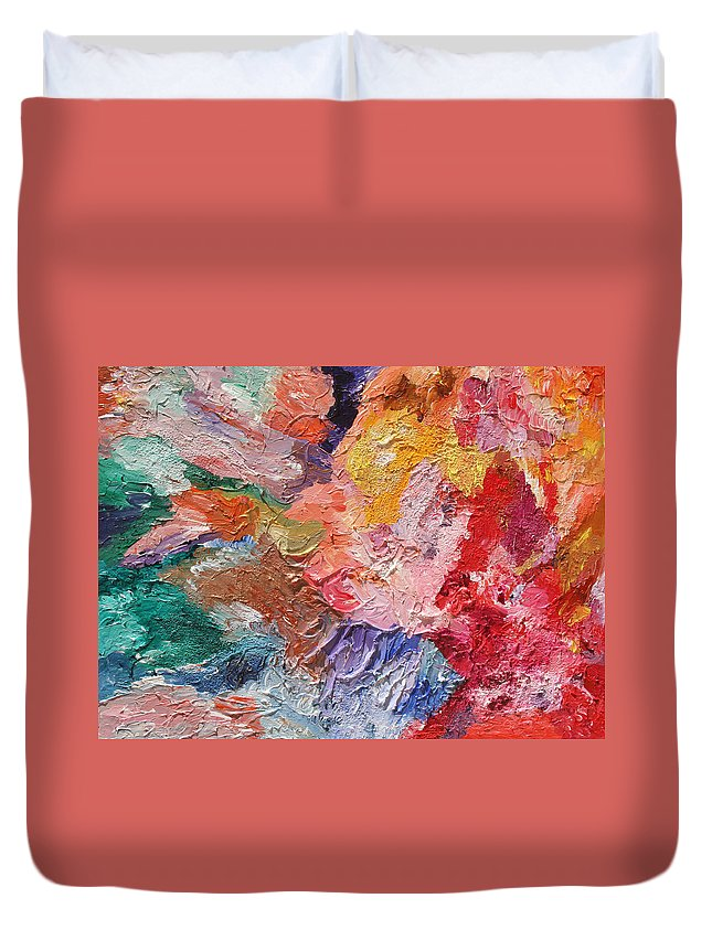 Fusionart Duvet Cover featuring the painting Birth Of Passion by Ralph White