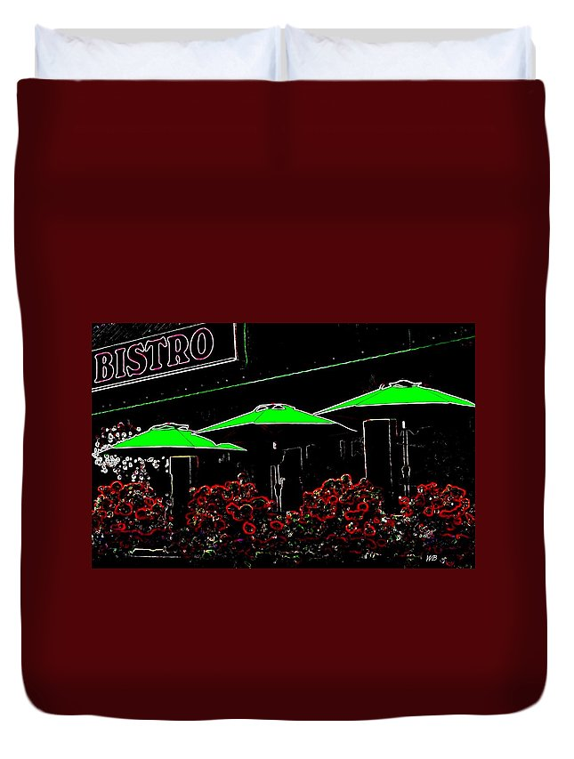 Abstract Duvet Cover featuring the digital art Bistro by Will Borden