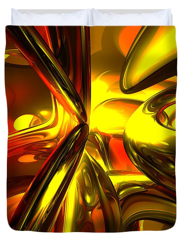 3d Duvet Cover featuring the digital art Bittersweet Abstract by Alexander Butler