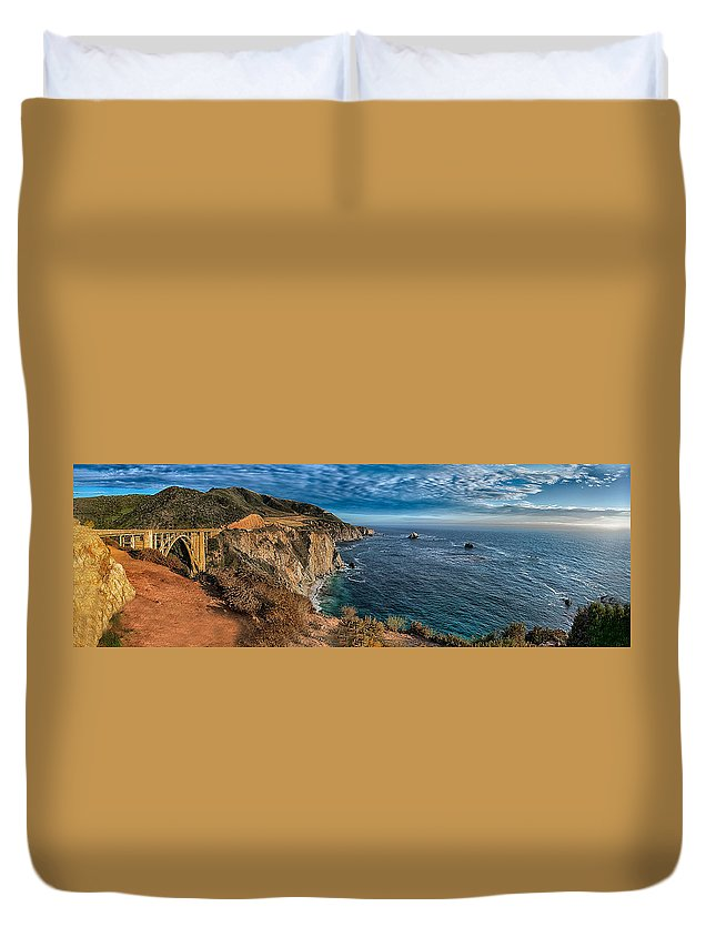 California Duvet Cover featuring the photograph Bixby Creek Bridge by Patrick Boening