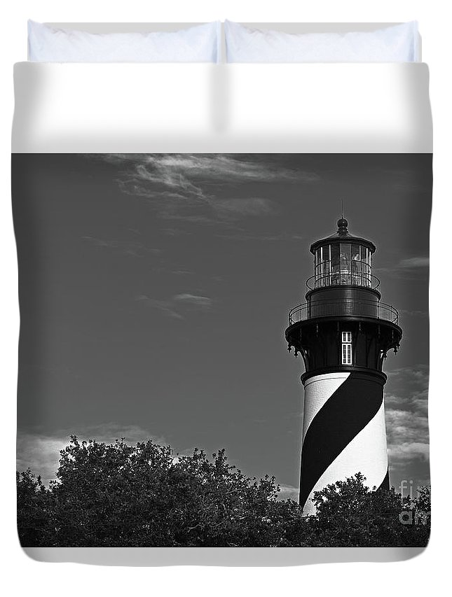 North Florida Duvet Cover featuring the photograph Black And White On Black by Rick Bravo