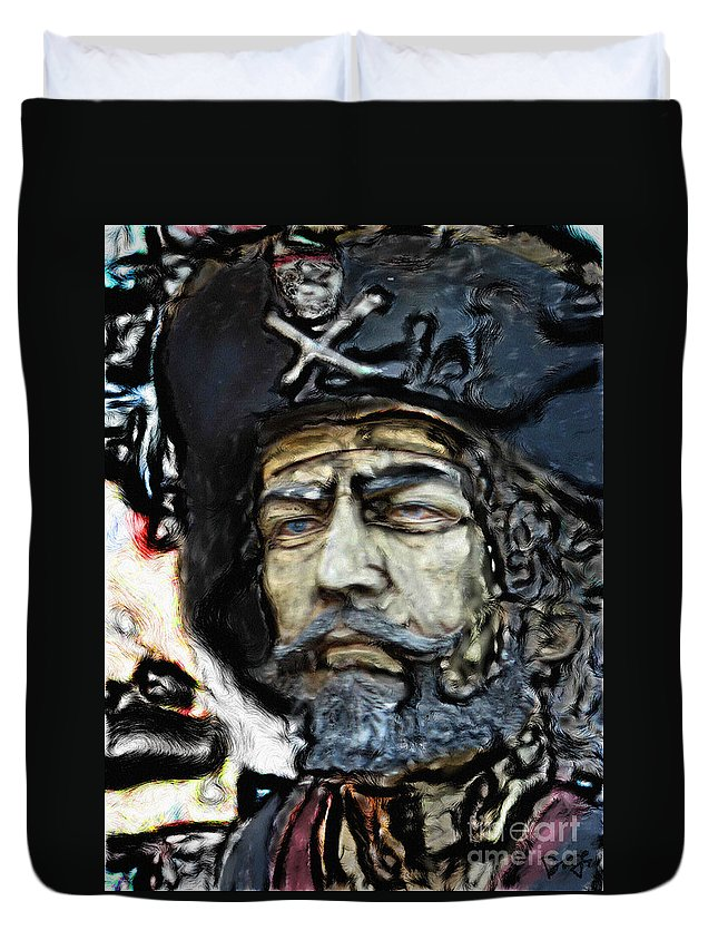 Ebsq Duvet Cover featuring the photograph Black Beard by Dee Flouton