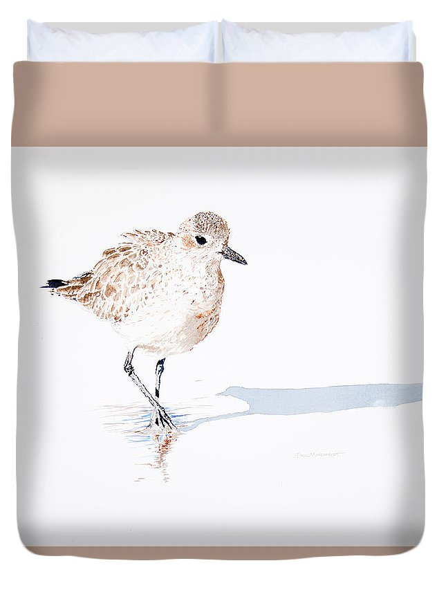 Black-bellied Plover Duvet Cover featuring the painting Black-bellied Plover by Emil Morhardt