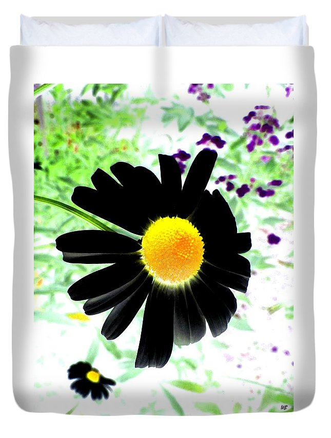 Photo Design Duvet Cover featuring the photograph Black Daisy by Will Borden