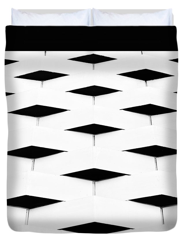 Mono Duvet Cover featuring the photograph Black Diamond by Russ Dixon