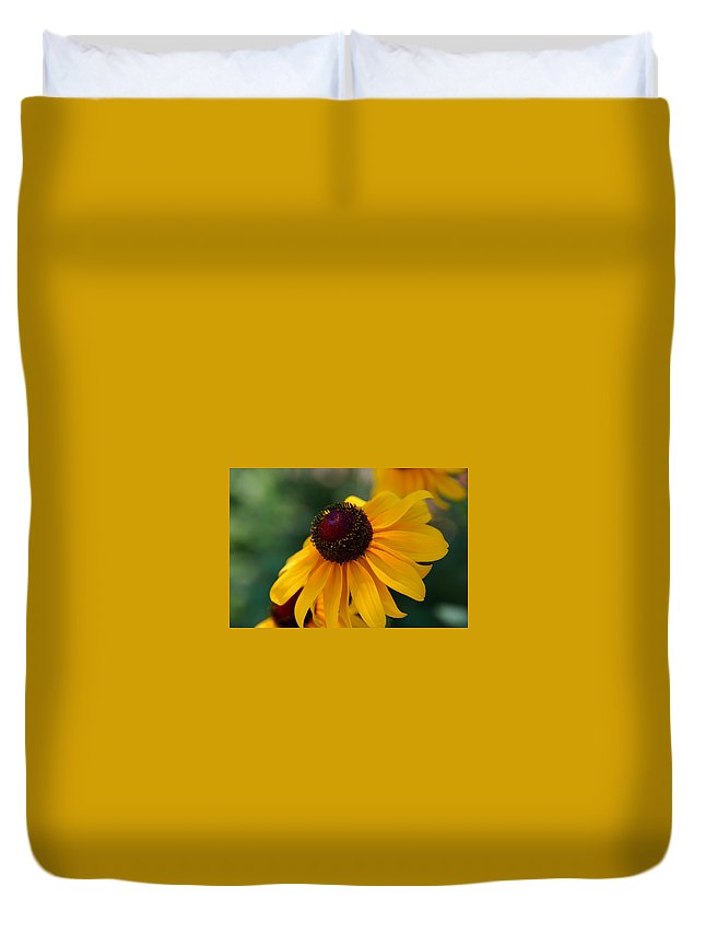 Photography Duvet Cover featuring the photograph Black Eye Susan by Susanne Van Hulst