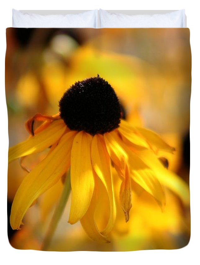 Black Eyed Susan Duvet Cover featuring the photograph Black Eyed Susan by Sherrie Triest