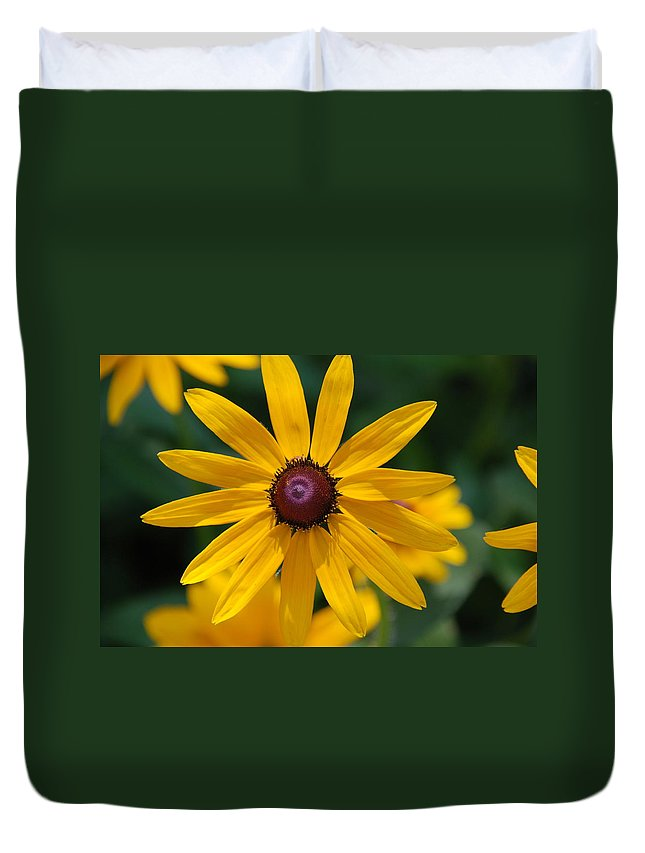 Flowers Duvet Cover featuring the photograph Black Eyed Susan by Susanne Van Hulst