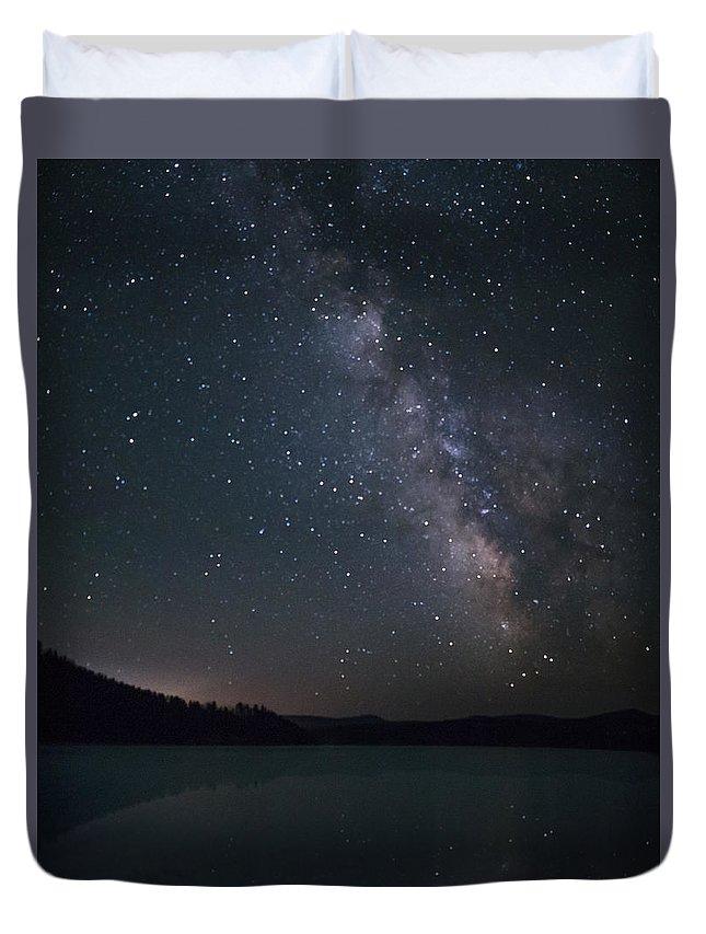 Dakota Duvet Cover featuring the photograph Black Hills Nightlight by Dakota Light Photography By Dakota