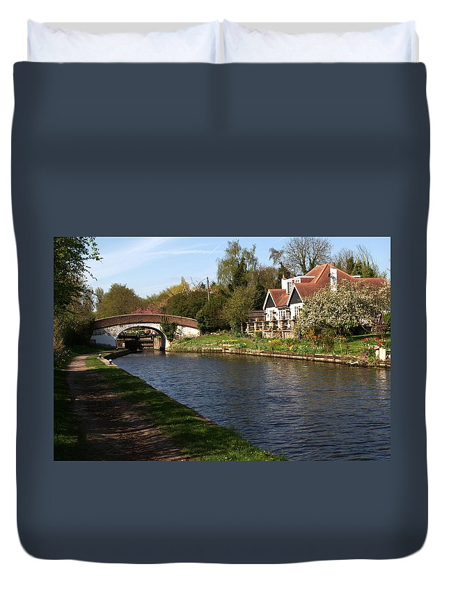 Black Jack Duvet Cover featuring the photograph Black Jacks On The Grand Union by Chris Day