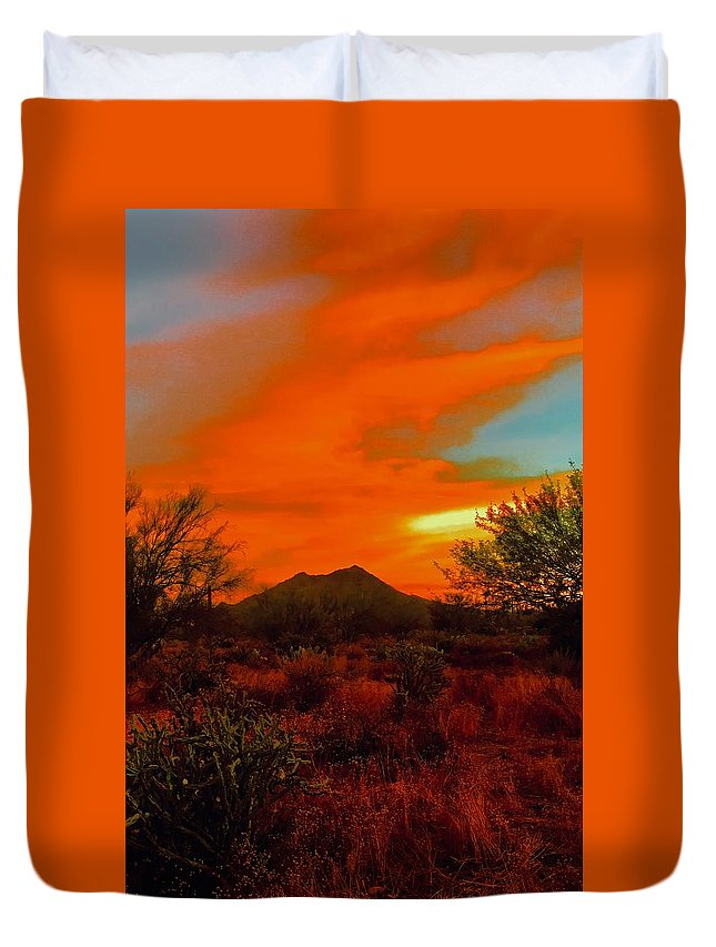 Duvet Cover featuring the photograph Black Mountain Mystic by Joy Elizabeth