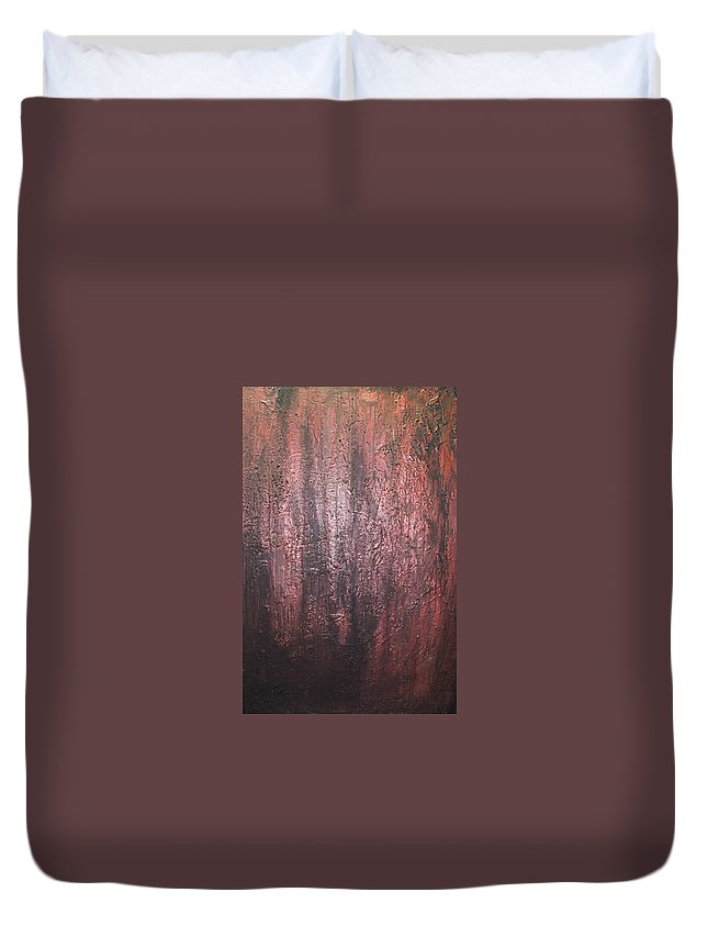 Abstract Duvet Cover featuring the painting Black No 1 by Elizabeth Klecker