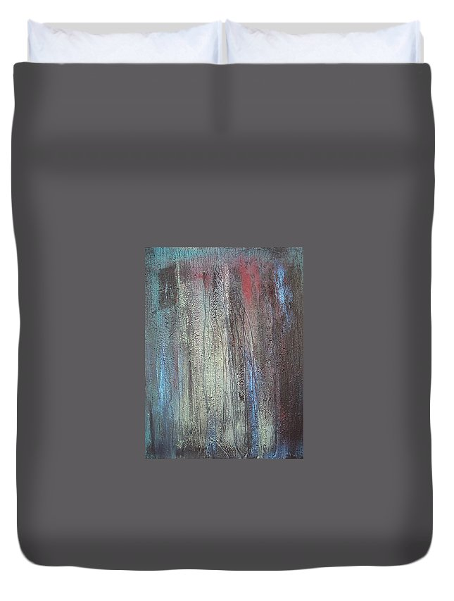 Paintings Duvet Cover featuring the painting Black No 2 Sold by Elizabeth Klecker